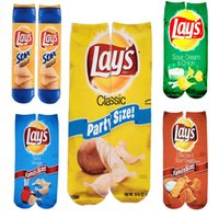 30 cm 40 cm Komik Patates Cipsi Çorap Patates Kızartması MacCA Foodie Fastfood Snacks 3D Baskı Uzun Çorap Kadın Erkek Çorap Ayakkabı E122101