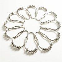 Cortina de ducha Roller anillos de cortina de ganchos de bola de rodillo 5 Pulido baño accesorios para cortinas bola de níquel satinado