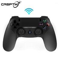 جهاز التحكم اللاسلكي بلوتوث سماعة ل PS3 وحدة التحكم اللمس لوحة عدم الانزلاق علامات المدمج في اللون الصمام سماعة سترة