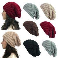 Étoffes de femmes Chapeau tricoté d'hiver Mode Chapeaux chaud solide Bonnet extérieur Skullies souple Beanies unisexe Casual casquette de velours Bonnet FFA4466