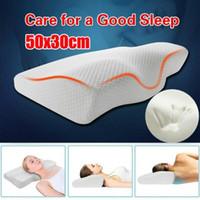 Taie d'oreiller en mousse à mémoire de rebond lente Coussin de contour cervical pour la douleur au cou Anti Snore Side Denders oreillers avec étui lavable