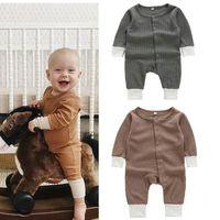 Designer Ins Bambini Boutique Abbigliamento Neonato Ragazzo Vestiti Baby Girl Pagliaccetto Manica in cotone Tute Suite Neonato Onesies Bodysuits Toddler 671 x2