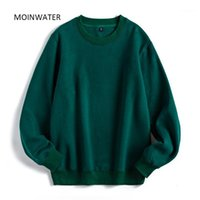 Moinwater Mulheres New Fleece Quente Hoodies Senhora Casual Streetwear Suéter Feminino Grosso Tops Outerwear para Inverno MH20131