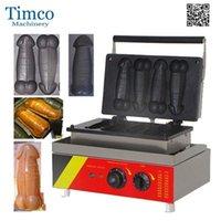 Máquina de fabricante de waffle de forma de pene 4pcs Hot Dog Baker1