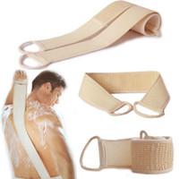Loofah طويل عودة منشفة فرش حمام فرشاة مزدوجة من جانب التقشير الخلفي الجسم الغسيل الجسم العناية بالبشرة فرك لوازم الحمام