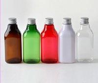알루미늄 캡 화장품 포장으로 도매 - 200ml의 투명 PET 병