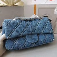 مصمم- جديد مصمم أزياء السيدات حقيبة سلسلة رسول حقيبة حقائب الكتف الصغيرة الدينيم غسلها الرجعية الحرفية أكياس البلوز