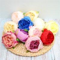 Nuevas flores artificiales de seda Peony Flower Heads Fiesta de decoración de boda Suministros Simulación Fake Flowe Head Decoraciones para el hogar