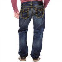 5A Vero jeans per gli uomini in difficoltà pantaloni religioni strappati pantaloni skinny vestiti moda sottile moto moto moto biker hip hop denim uomo 30-40