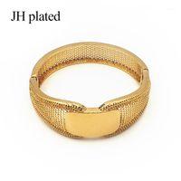 Bangle Jhlplated Mode Gold Farbe Hochzeit Armreifen für Frauen Braut Armbänder Äthiopisch / Frankreich / Afrikaner / Dubai Schmuck Gifts1