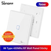 Sonoff RF Télécommande 86 Type Panneau mural Sticky 433MHz RF Télécommande 1/2/3 Gang travaille avec Sonoff TX WiFi Switch1