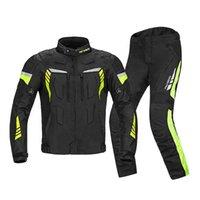 Özel yüksek kaliteli moda erkek dört mevsim Motosiklet mont pantolon satışı su geçirmez ceket turne