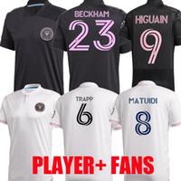 نسخة 2020 2021 MLS لاعب بين ميامي CF كرة القدم بالقميص 20 21 هيجوين TRAPP بيزارو PELLEGRINI ماتويدي BECKHAM MEN KIDS قمصان كرة القدم