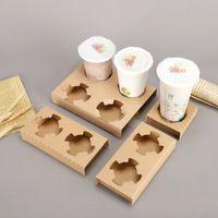 Tek Kullanımlık Kraft Kağıt Kahve Fincanı Tutucu Süt Çay Paket Servis Alışveriş Hizmetleri Kahve İçme Kahve Çıkarma Ambalaj