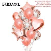 حزب الديكور روز الذهب النثار بالون العقيق الشمبانيا الحب الزفاف عيد البالونات باقة باقة