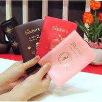 Capa de Passaporte Mulheres Homens Pu Couro Capa no Passaporte ID de Crédito Holderbrand Unisex Travel Passport Holder H Jllpwa