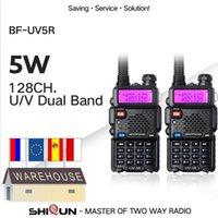 Rádio 2PCS Baofeng BF-UV5R Amador portátil Walkie Talkie Pofung UV5R 5W VHF / UHF Radio Dual Band Two Way UV 5R CB