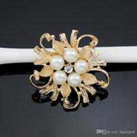 دبابيس للنساء المتأنق الزفاف دبابيس الذهب والفضة أنيقة المرأة Rhineston بروش