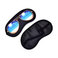 Sıcak 1 Adet 3D Uyku Maskesi Doğal Uyku Göz Maskesi Göz Demeği Kapak Gölge Göz Yama Kadın Erkek Tepeli Göz Blindfold Seyahat 20 * 9 cm