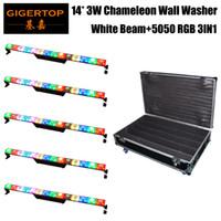 RGB 5050 3IN1 워시의 LED CE ROHS와 5IN1 플라이트 팩 카멜레온 픽셀 무대 배경 장식 LED 벽 세탁기 빛의 따뜻한 화이트 크리어