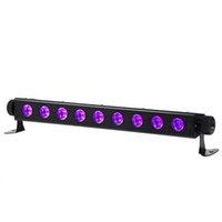 AC100V-240V 260W الأشعة فوق البنفسجية 9-LED التحكم عن بعد / السيارات / الصوت / dmx الأرجواني الخفيفة dj حفل زفاف المرحلة ضوء أسود جودة عالية الإضاءة المرحلة