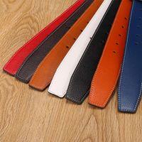 7 ألوان عالية الجودة الرجال جلدية أحزمة الرجال لا الإبزيم للنساء H الإبزيم جهان أنثى حزام الأشرطة مع ثقوب