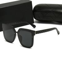 أعلى الطيارين الفاخرة نظارات بولارويد عدسة العلامة التجارية مصمم إمرأة رجل حملق كبار النظارات خمر المعادن نظارات الشمس مع مربع