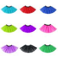 13 couleur bébé INS jupe courte jupe grenadine Baby Girls TUTU Robe 2020 Pettiskirt pour les enfants Enfants Jupe courte Party