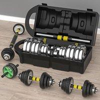 Pasas de gimnasia para hombres electrochaplato ajustable Barbell Dumbbell Conjunto de fitness de doble uso