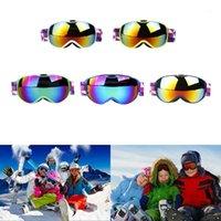 نظارات الشتاء الثلوج الرياضة على الجليد نظارات نظارات مع مكافحة الضباب uv حماية مزدوجة عدسة للأطفال للجنسين الجليد التزلج على الجليد 1