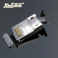 Xintylink RJ45 موصل RJ 45 إيثرنت كابل التوصيل CAT7 CAT6A 8P8C STP محمية القط 7 محطات الشبكة 1.3 ملليمتر 10 قطع 50 قطع 100pcs1