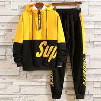 Tasarımcı Öğrenci Eşofman Erkekler Lüks Ter Suits Sonbahar Marka Erkek Jogger Takım Elbise Ceket + Pantolon Setleri Spor Suit Hip Hop Setleri Yüksek Kalite