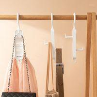 3 قطع مزدوجة الوجهين القابلة للإزالة مساحة توفير المنزل غرفة نوم شنقا حقيبة يد منظم خزانة تخزين قابل للتعديل 360 درجة دوران 1