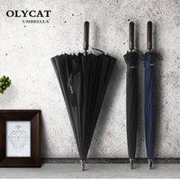 Зонтики Olycat большие женщины зонтик дождь 24K ветрозащитный мужской трость мужские гольф солнца парагуас парасольский тростник