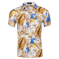 Mens Floral Summer Shirt Single Breasted Long Sleeve Shirt Male Casual Beach Clothes