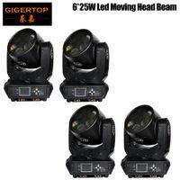 Çin Tedarikçi 4 Paketi Sharpy 6x25W Işın Moving Head Işık DJ Ekipmanları Amerikan LUMINUS LED'ler 16 bit Karartma Sistemi 6 Gözler Işın 180W CE ROHS