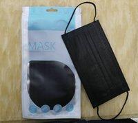 Unisex Ağız 10 adet Perakende Ambalaj Tek Kullanımlık Siyah Yüz Maskeleri Dokunmamış Anti-Toz Maskesi 3 Filtre Etkinleştirilmiş Karbon Prote