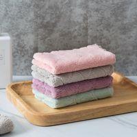 Doppelte Farbe Handtuch Reinigung Koralle Samt Teller Handtücher Multicolour Waschtisch Home Küche Öl Staub Sauberes Tuch Faltbarer heißer Verkauf 0 32JY G2