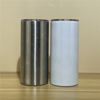 22oz sublimação copo gordo com costura branca espaços em linha reta copos de aço inoxidável caneca de café frasco de água A02