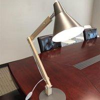 Brand New Agiactup Classical Mini Moda Matowy Metalowy Lampshade i Drewniany Wspornik Tekstura Studium Lampa stołowa ze źródłem światła USA wtyczka