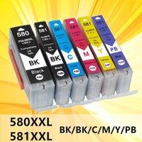 PGI-580 CLI-581 PGI-580XXL CLI-581XXL Mürekkep Kartuşları Uyumlu Canon 580 581 580xL 581XXL Canon Pixma TS8150 TS81511 ile çalışmak