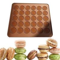 30 лунок силиконовые выпечки духовки Macaron Silicone Nilection коврик для выпечки противень печенье для выпечки инструменты для выпечки W11