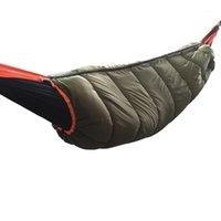 Açık Sıcak Hamak Uyku Tulumu Underqualt Isıtıcı Rüzgar Geçirmez ve Sıcak Yorgan Battaniye Macera Kamp Hiking1 Için