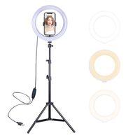 삼각대의 Dimmable LED 셀프 링 라이트 스탠드 사진 ringlight 전화 스튜디오 바탕 화면 연예인 라이브 스트림