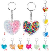 New Coração Moda Shaped Crystal Stone acrílico chaveiro cadeia Keyfob Pendant Keychain Bolsa Keyring