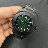 Gran fábrica U1 Movimiento automático 5711 Hombres Reloj de zafiro Cristal Green Dial Male Watch 316 Banda de acero inoxidable Envío gratis