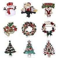 Yeni Noel Baba Noel ağacı Broş Retro Alaşım Giyim Ayakkabı Şapkalar Takı Aksesuar Broş Pin Süsleme iğneler