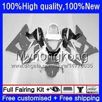 Kit pour HONDA CBR 929RR 900 929 RR 00 01 2000 2001 50HM.151 CBR900 RR CBR 900RR blanc gris 929CC CBR900RR CBR929RR CBR929 RR 00 01 Carénage