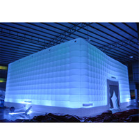 Customized Led Glowing Cabinet inflatable cube tent event exhibition trade show Building giant Party Room with blower for Sale