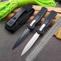 """OFFERTA SPECIALE Benchmade BM 3300 coltello Infidel fuori dalla doppia azione anteriore Auto (3.95 """"Pianura satinata) 3310BK D2 in acciaio Tactical 3310 3320 3350 coltelli"""